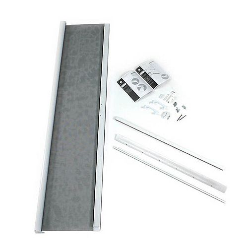 ODL Moustiquaire rétractable blanche pour portes de verre coulissantes de hauteur réduite de 6 pi 8 po et portes à ouverture vers lextérieur de 36 x 78 po