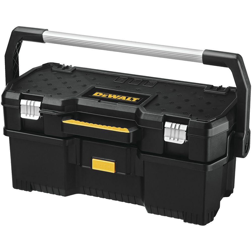 DEWALT Fourre-tout 2 en 1 de 24 pouces avec mallette amovible pour outils électriques