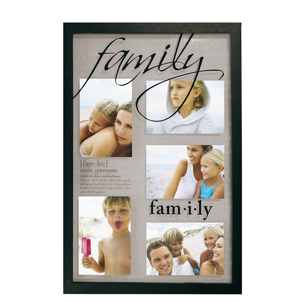 nexxt Traditions Family Black Frame