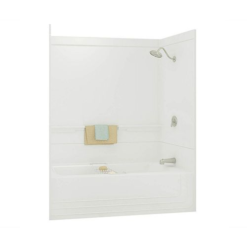 Monaco 59.50-inch x 73.88-inch x 30.75-inch 1-shelf fibreglass 2-Piece Left Hand Drain Tub & Shower