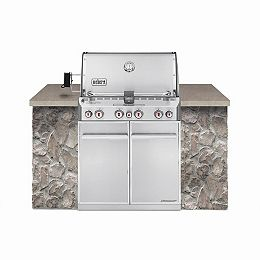 Summit S-460 4-Burner Built-In Natural Gas Grill in Stainless Steel
