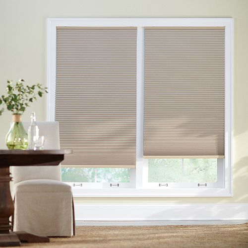 23-inch W x 48-inch L, Blackout Cordless Cellular Shade in Sahara Tan