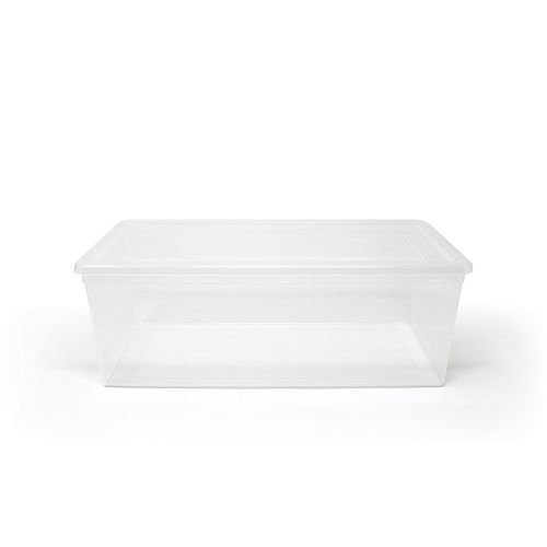 Boîte à chaussures, transparente