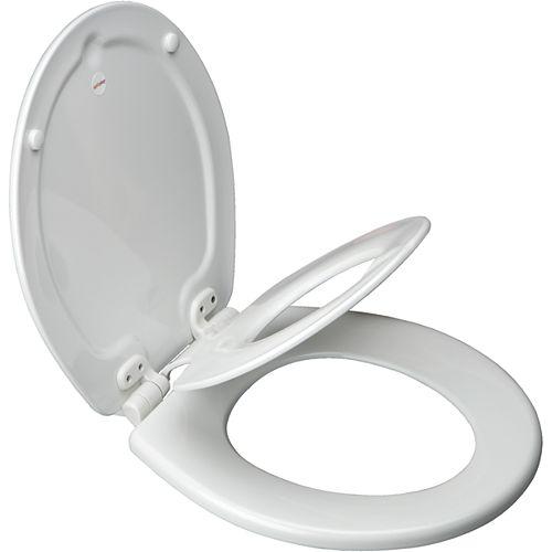Bemis Siège de W.C. rond NextStep avec Whisper Close et charnières Easy Clean & Change et STA-TITE - Blanc
