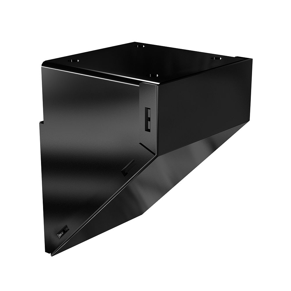 Peak Railblazers Aluminum Mid/End/Stair Fascia Mount Bracket in Black