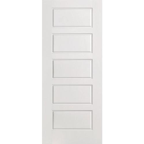 28-inch x 80-inch Primed Smooth 5 Panel Equal Interior Door Slab