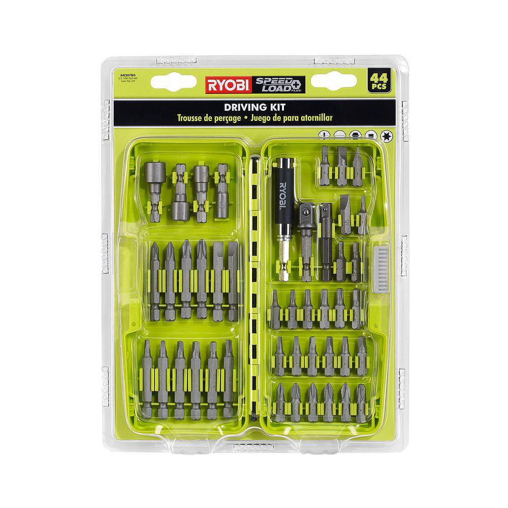 RYOBI Steel Impact Driving Kit (44-Piece) with Carrying Case