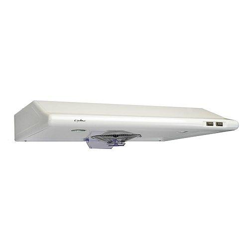 30-inch Undermount Range Hood with Rectangular Ducting in White