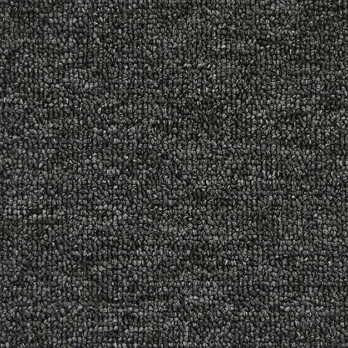 Moquette d'intérieur bouclé uniforme Klondike II Nuage sombre, 12 pi. x longueur sur mesure