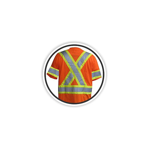 Chemise de circulation W/ Stripes,Taille 2Xl