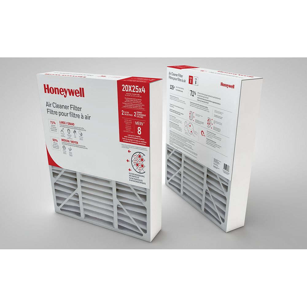 Honeywell Air Cleaner Filter 20x25x4 Inch - (2-Pack)