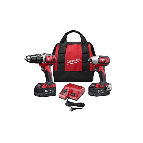 M18 18V Lithium-Ion Cordless 1/2-inch Hammer Drill & 1/4-inch Impact Driver Combo Kit (2-Tool)