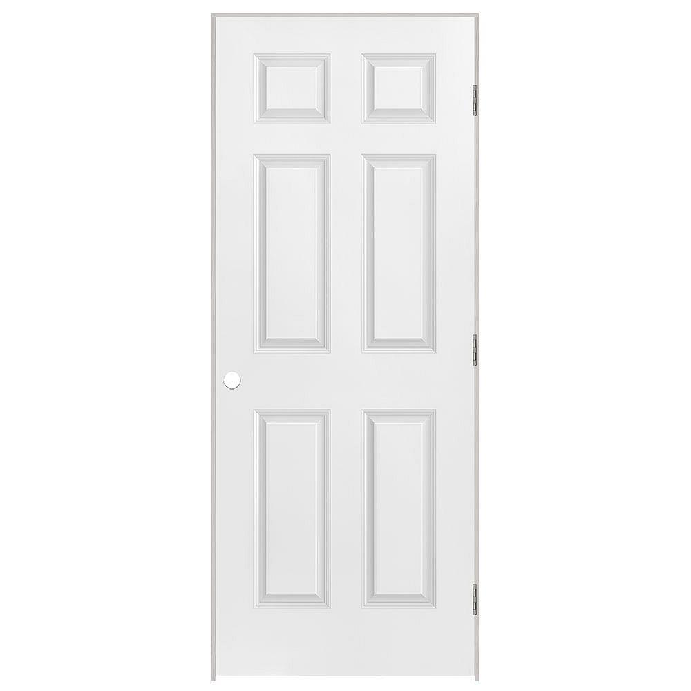 Masonite 26x80x1-3/8 6 Panneaux Pré-montée main droite