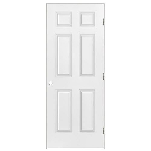 Masonite 26-inch x 80-inch Lefthand 6-Panel Prehung Interior Door