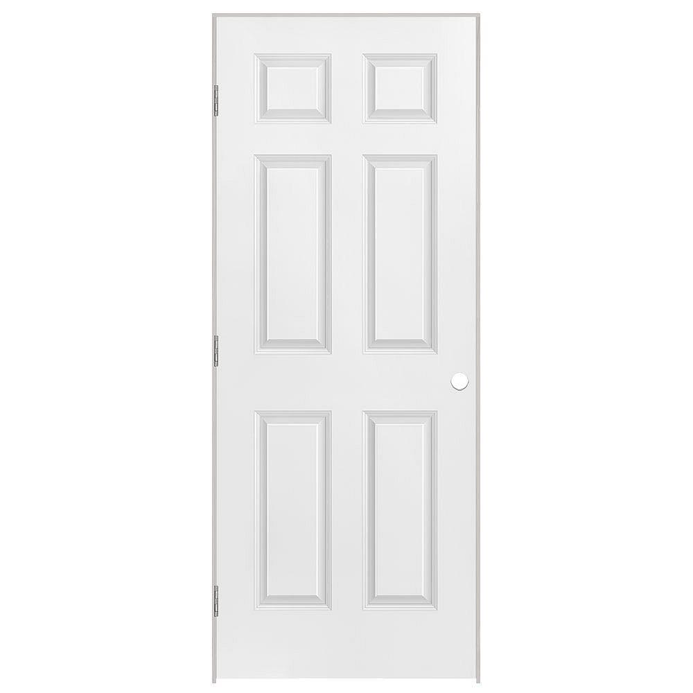 Masonite 26x80x1-3/8 6 Panneaux Pré-montée main gauche