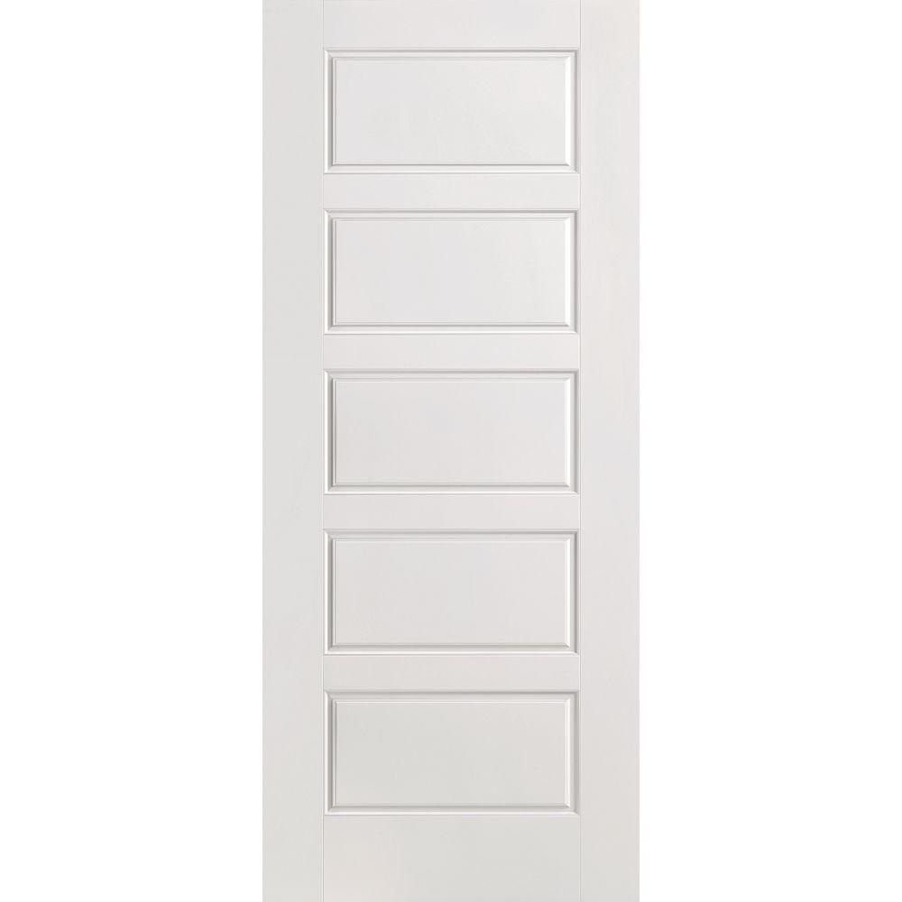 Masonite Porte intérieure apprêtée 5 panneaux égaux 24 pouces x 80 pouces