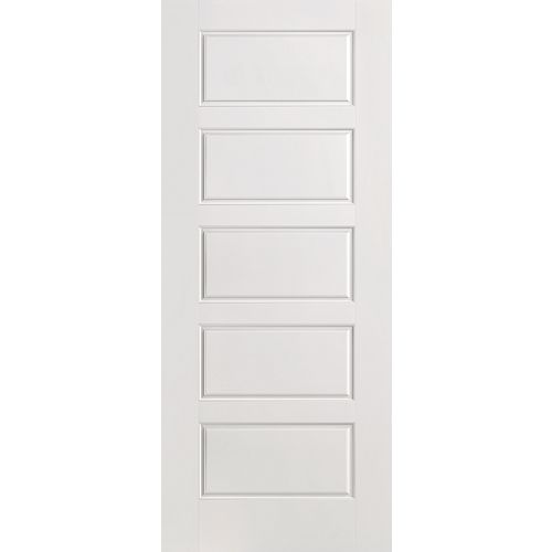 Masonite 24-inch x 80-inch Primed Smooth 5 Panel Equal Interior Door Slab