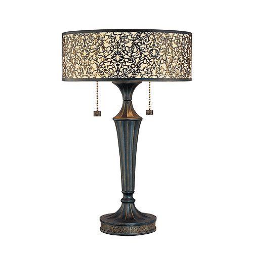 Lampe de Table à 2 Lumières, Collection Melosa