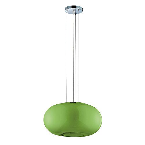 Luminaire Suspendue Verte à 2 Lumières, Collection Pop