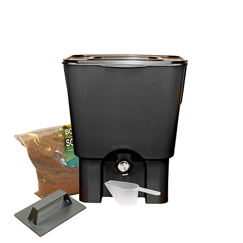 Kitchen Composter Kit, 5USG Black