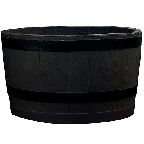 Barrel Planter Dsp-Blk