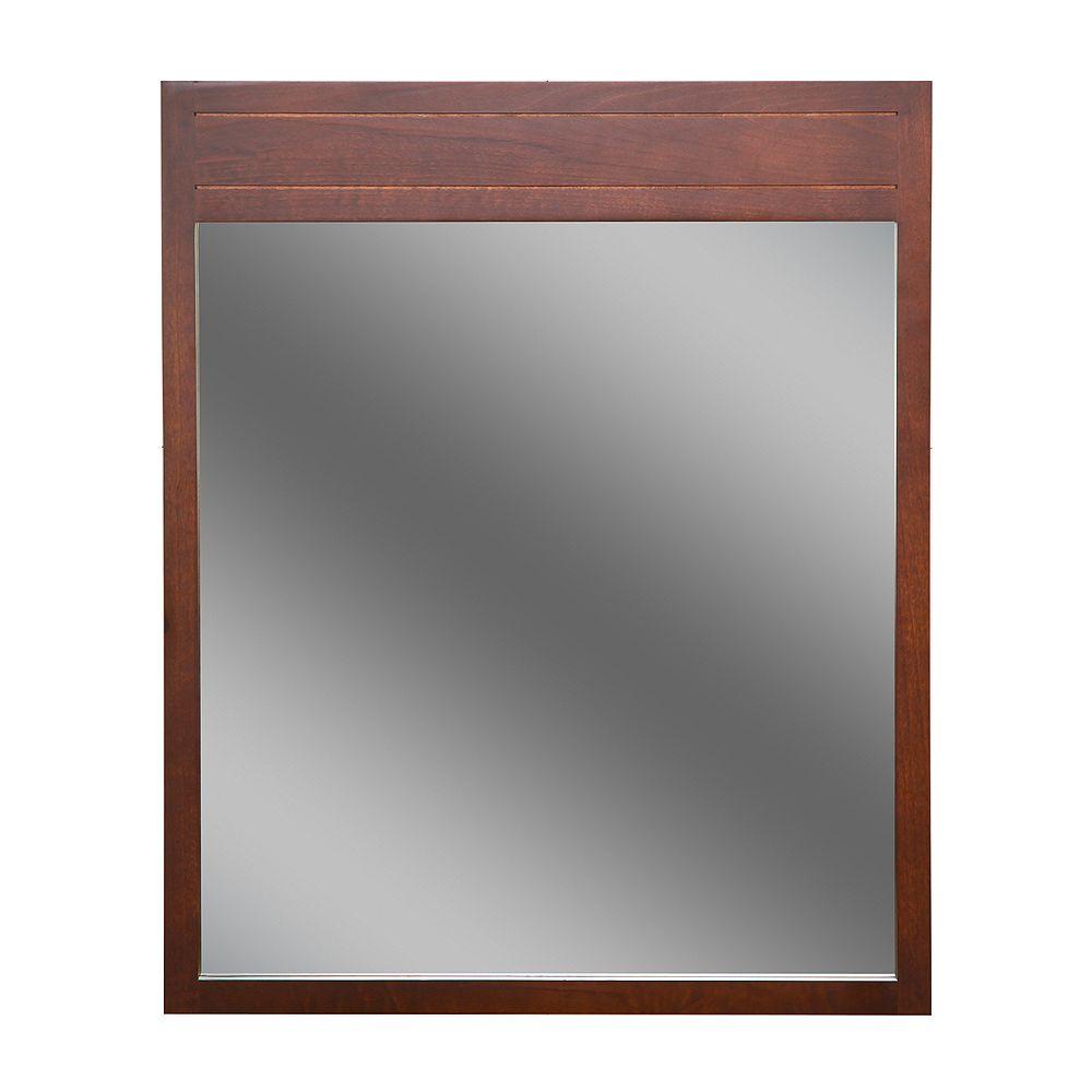 St. Paul Miroir Wyoming de 71 cm (28po) x 86,4cm (34po) de couleur Noisette