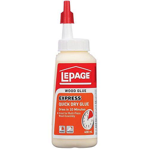 LePage Express Quick Dry Wood Glue, 400 ml