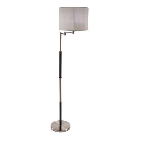 Lampe De Plancher En Cuir Avec Bras Pivotant