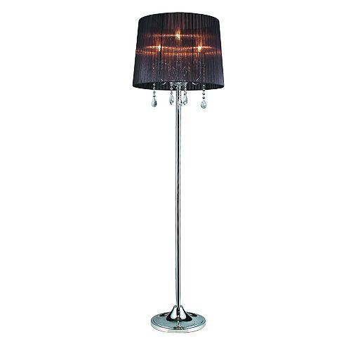 Lampe De Plancher Sheer Plaqué Chrome 5 Lumières