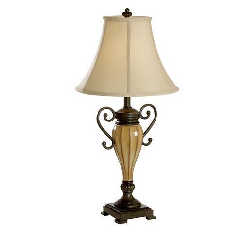 Lampe De Table Céramique Beige De Travera