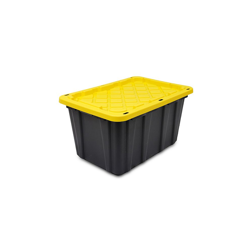 HDX 102L Strong Box Tote in Black/Yellow