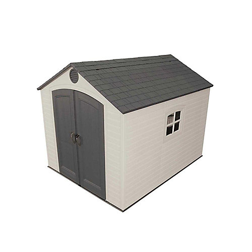 8 ft. x 10 ft. Storage Shed in Beige & Tan
