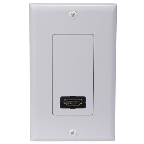 RCA HDMI Wall Plate - Single Outlet