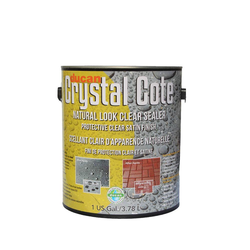 Ducan Crystal Cote Scellant à base d'eau pour entrée de béton  et terrasse procurant  un fini mat. Peut-être utilisé à l'intérieur comme  à l'extérieur.