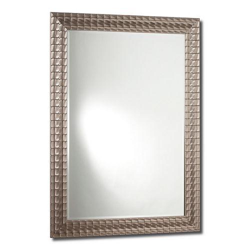 The Tangerine Mirror Company David Mirror, Sterling Silver - 24 Inch x 36 Inch