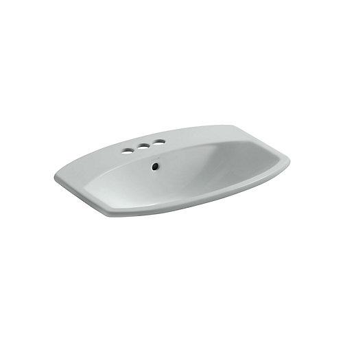 Cimarron(R) drop-in bathroom sink with 4 inch centerset faucet holes