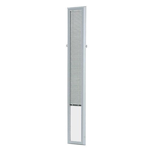 7-inch x 64-inch White Aluminum Add-on Blind for Sidelight Doors