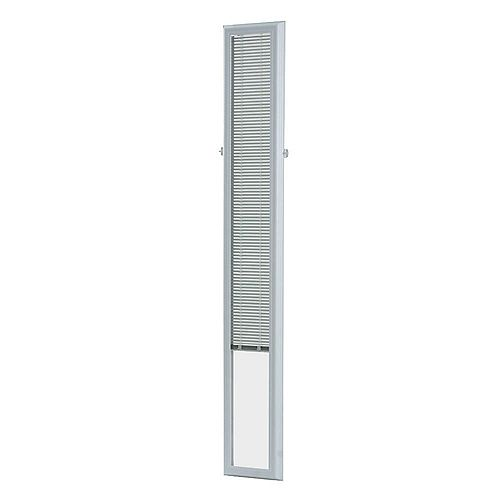 7-inch x 64-inch White Aluminum Add-on Blind for Sidelight Doors
