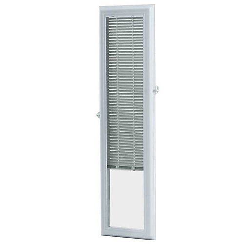 8-inch x 36-inch White Aluminum Add-on Blind for Sidelight Doors
