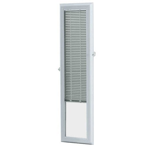 8-inch x 36-inch White Aluminum Add-on Blind for Sidelight Doors