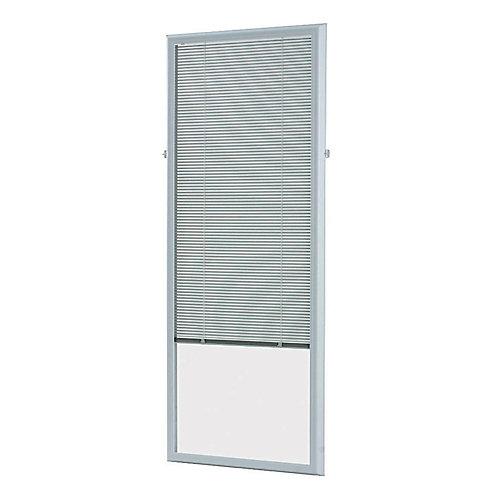 27-inch x 66-inch White Add-on Blind for Flush Frame Doors