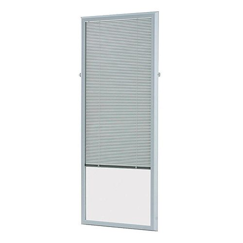 27-inch x 66-inch White Add-on Blind for Flush Frame Doors
