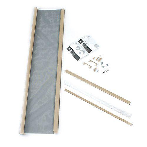 ODL Moustiquaire rétractable grès aluminium  36 x 80 po