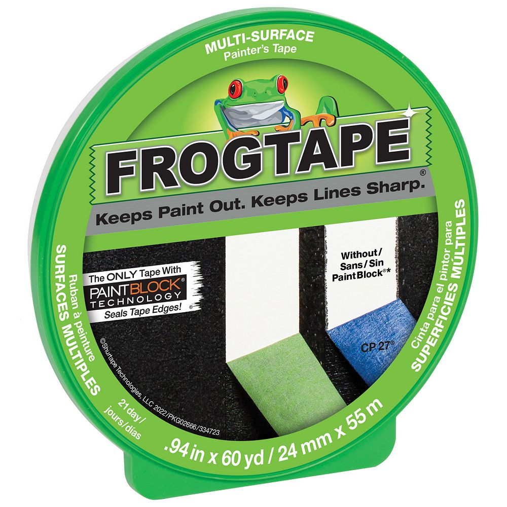 FrogTape 0.94-inch x 60 yds. Multi-Surface Painter's Tape with PaintBlock in Green