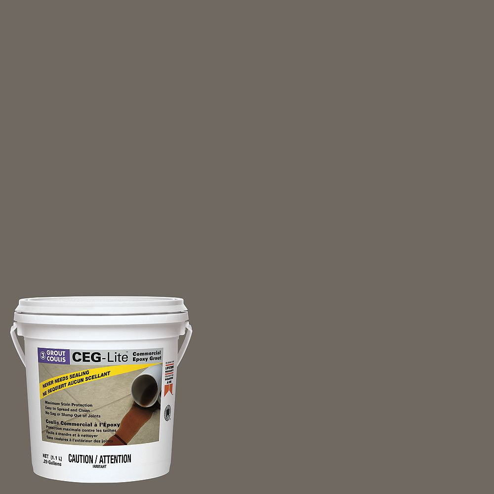 Custom Building Products Ceg Lite 100 Solids Commercial Epoxy Grout 09 Natural Gray 1 1 The Home Depot Canada
