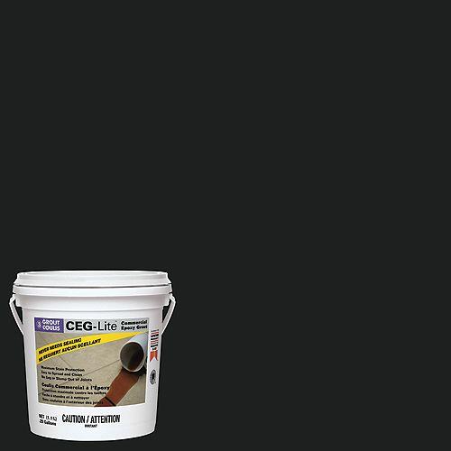 Custom Building Products CEG-Lite Coulis Époxy à Usage Collectif 100% Extraits Secs  #60 Gris charbon 1.1 L