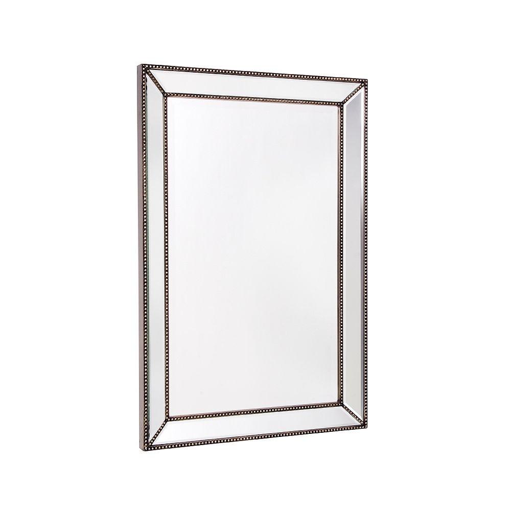 The Tangerine Mirror Company Trinity 24-inch x 36-inch Beaded Mirror on Mirror