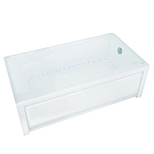 New Town 6032IFS Aerosens White Acrylic Tub with Integrated Flange and Skirt with Right-Hand Drain