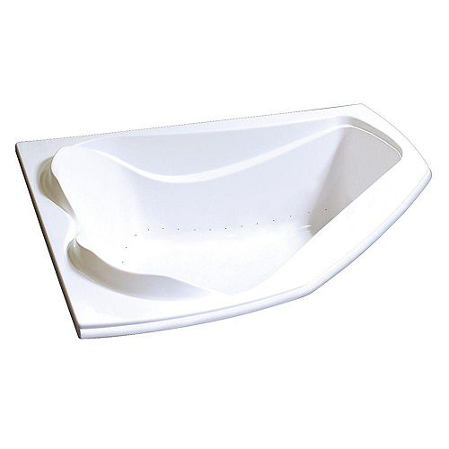 Cocoon Acrylic Aerosens Corner Bathtub in White