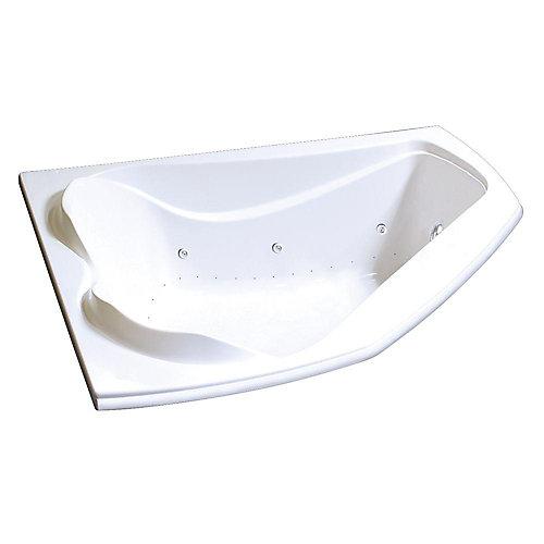 Cocoon Acrylic Corner Bathtub with Combined Hydrosens/Aerosens in White